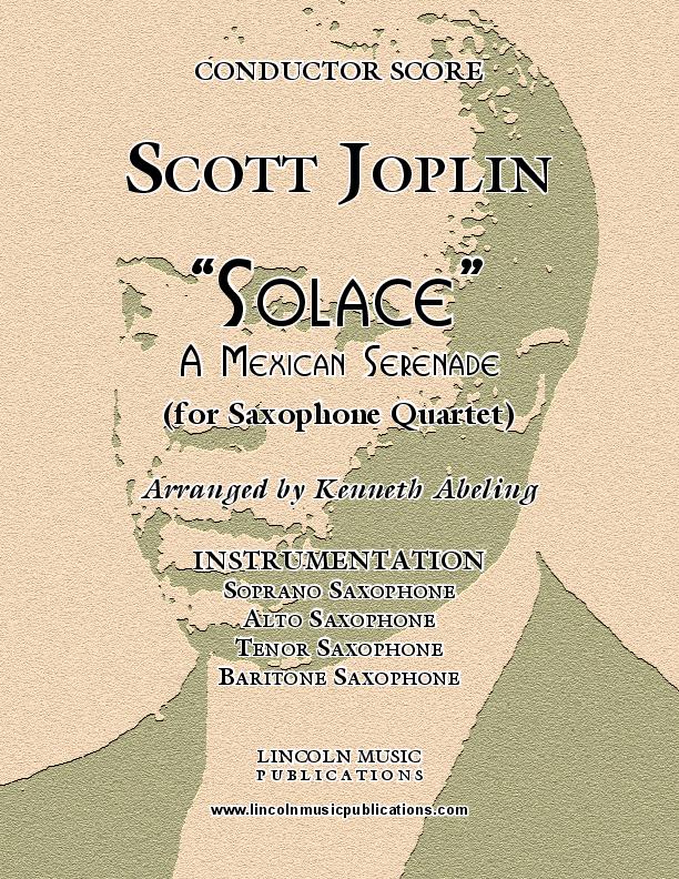 Joplin - Solace (for Saxophone Quartet SATB)