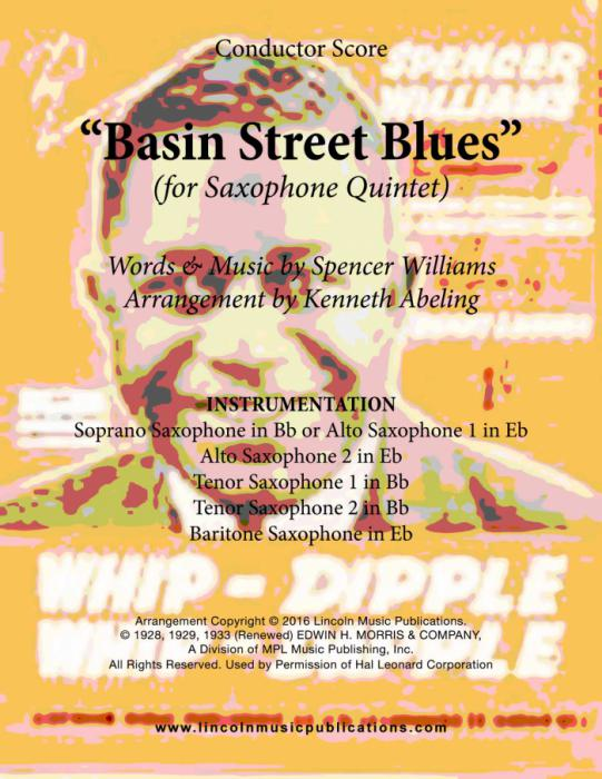 Basin Street Blues (for Saxophone Quintet SATTB or AATTB)