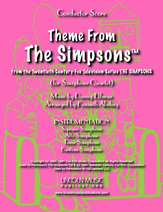 Theme From The Simpsons Piano Score