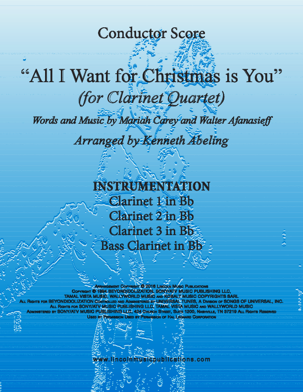 all i want for christmas is you for clarinet quartet - All I Want For Christmas Is You Youtube