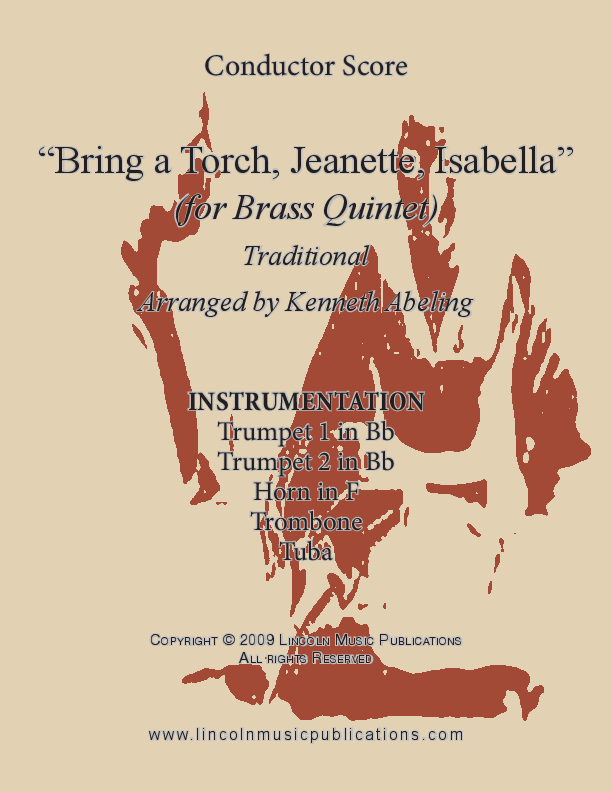 bring a torch jeanette isabella for brass quintet