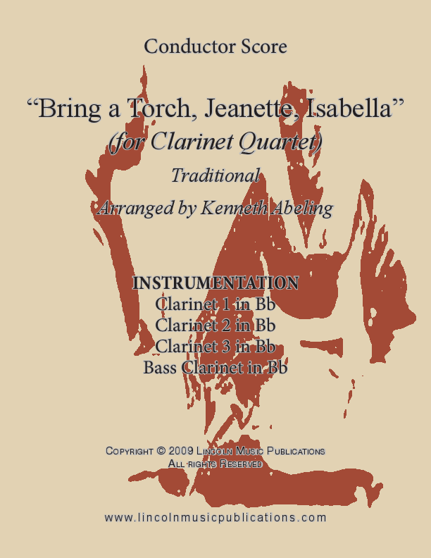 Bring a Torch Jeanette, Isabella (for Clarinet Quartet) Sheet ...