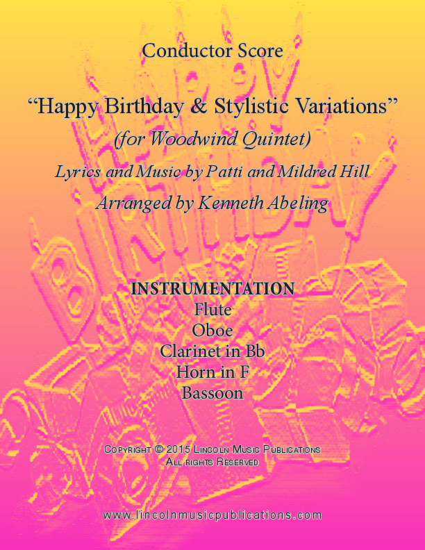 Happy Birthday And Stylistic Variations (for Woodwind