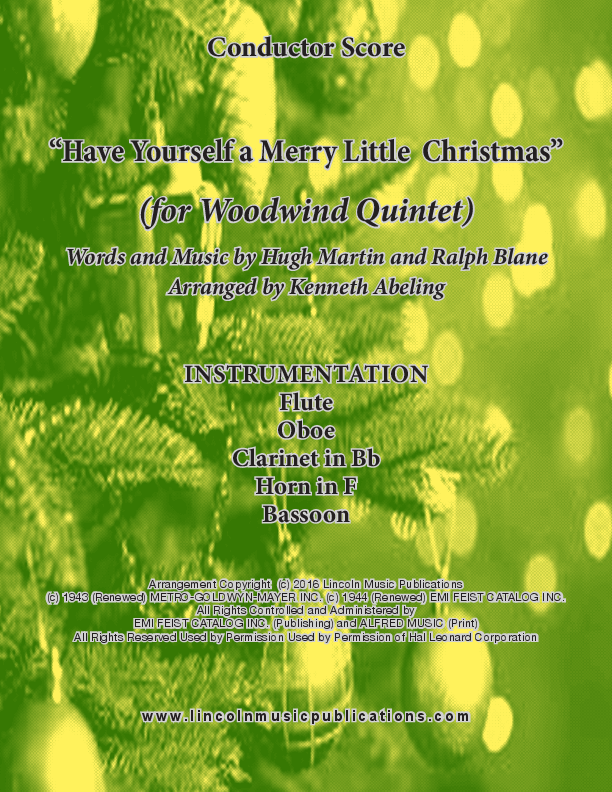 Have Yourself a Merry Little Christmas (for Woodwind Quintet) Sheet ...
