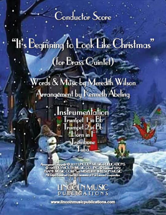 Its Beginning To Look Like Christmas.It S Beginning To Look Like Christmas For Brass Quintet