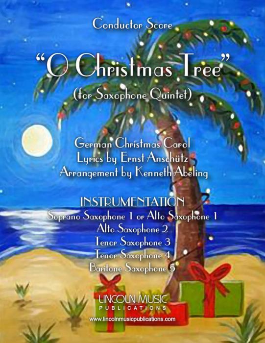 O Christmas Tree In German.O Christmas Tree For Saxophone Quintet Sattb Or Aattb