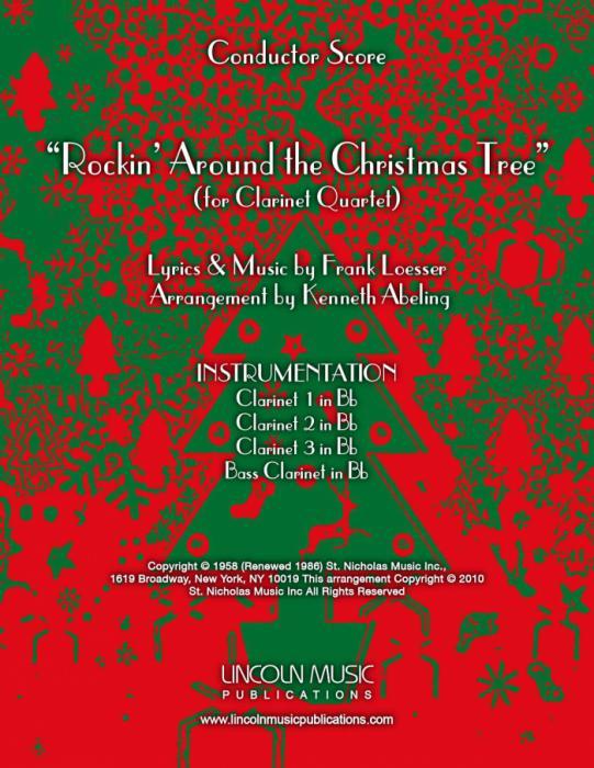Rockin Around The Christmas Tree.Rockin Around The Christmas Tree For Clarinet Quartet