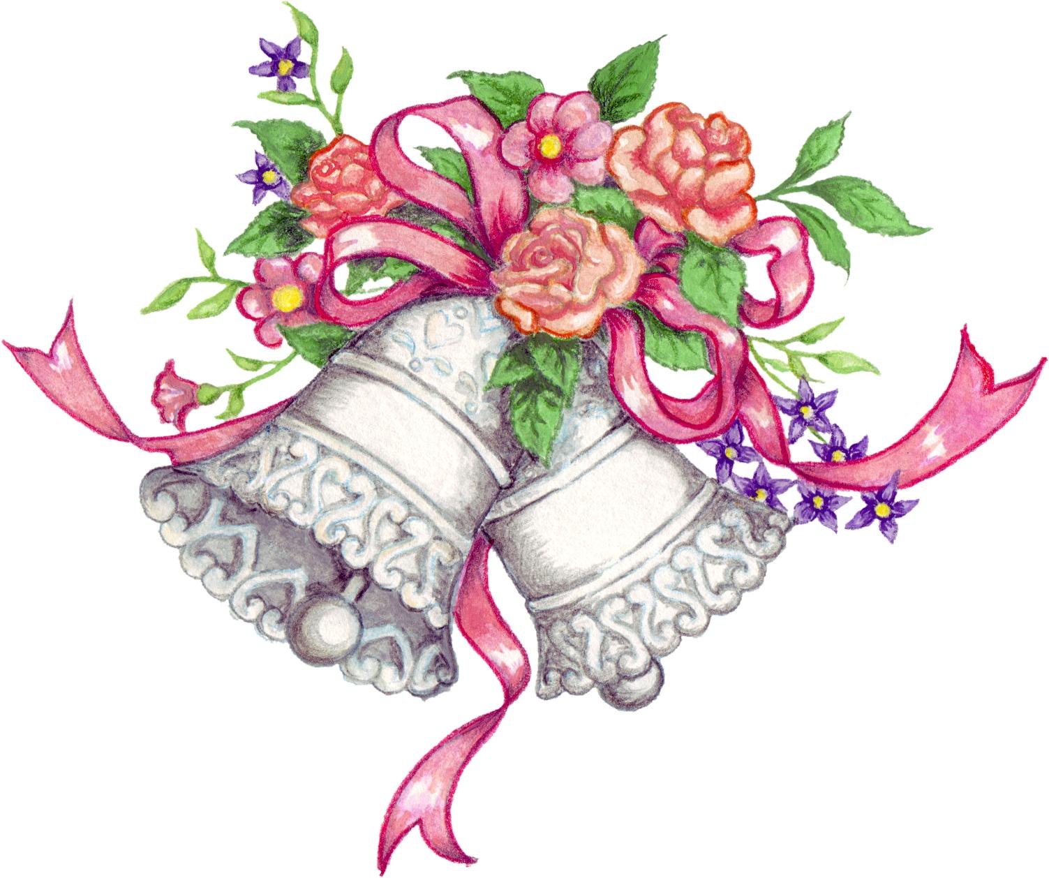 Christian wedding clipart colour
