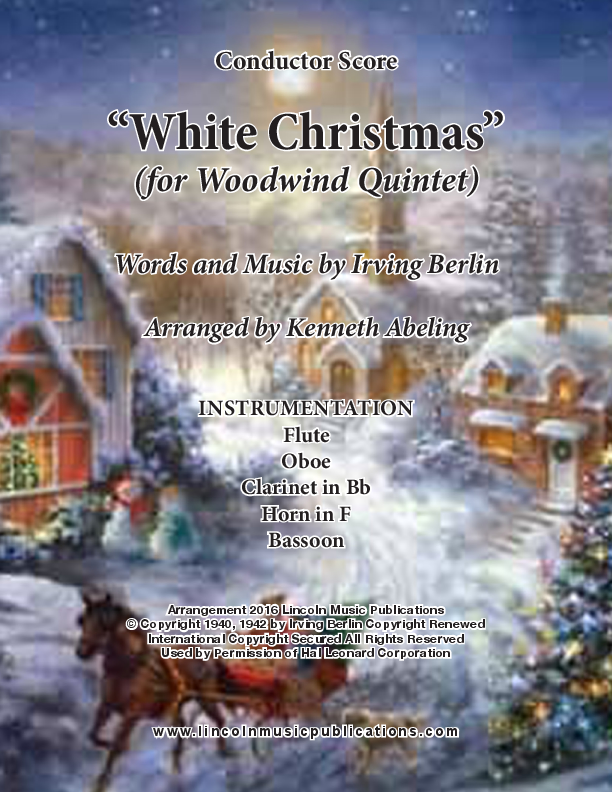 white christmas for woodwind quintet - Youtube White Christmas